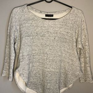 Zara W&B Collection Women's Gray 3/4 Sleeve Top S